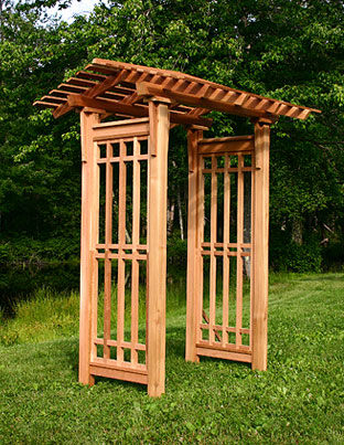 Craftsman Arbor by Trellis Structures