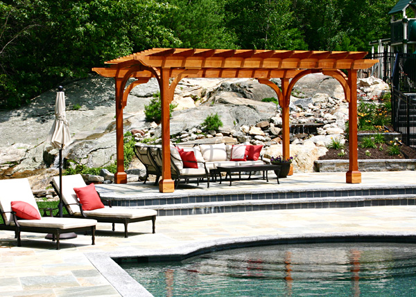 Pergola By Pool By Trellis Structures