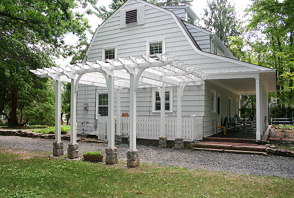 Driveway Pergola By Trellis Structures