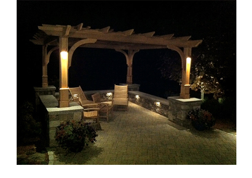 Outdoor Lighting Pergola by Trellis Structures