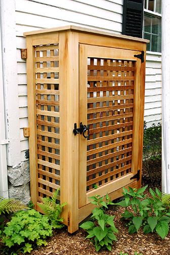 Ac Blowing Hot Air >> Propane Enclosure by Trellis Structures