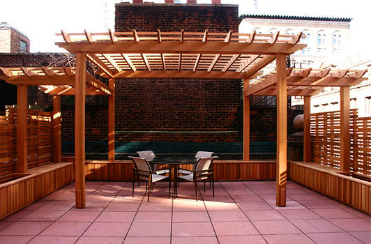 Large Rooftop Pergola And Planters 3a