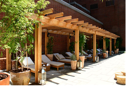 Modern Hotel Pergola No Cpg2 By Trellis Structures