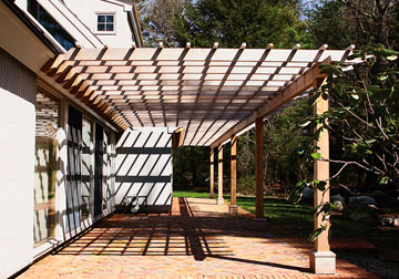 Lovely Attached Pergola No. AP2c.