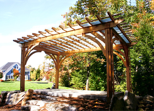Pergola With Acrylic Panels No App2 By Trellis Structures