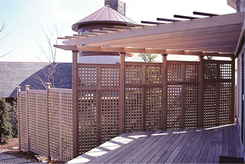 Deck Pergola With Privacy Lattice No Asp7 By Trellis Structures