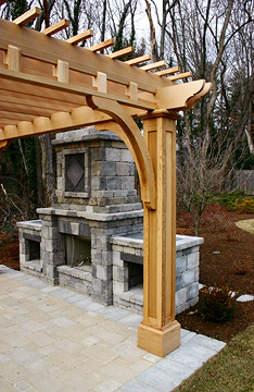 Post And Bracket Pergola No Bp4 By Trellis Structures