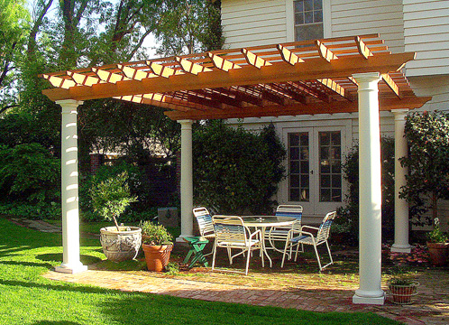 Traditional pergola no cp1 by trellis structures for Photos pergolas