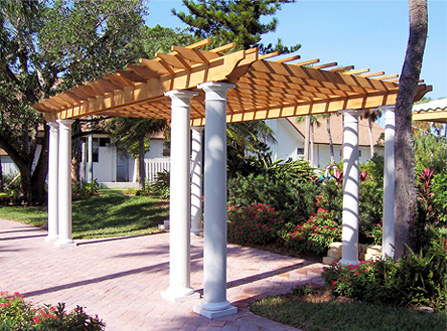Columned Pergola No. CP4 - by Trellis Structures