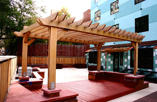 Large Rooftop Pergola No Cpg8 By Trellis Structures