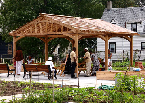 Community Garden Pergola No CPG9 by Trellis Structures