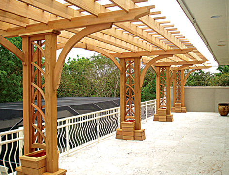 Cantilevered deck pergola no ctp1 by trellis structures for Deck trellis