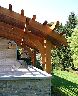 Contemporary Outdoor Kitchen Pergola No Ctp13 By