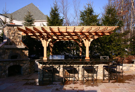 Outdoor Kitchen Pergola No Kp1 By Trellis Structures