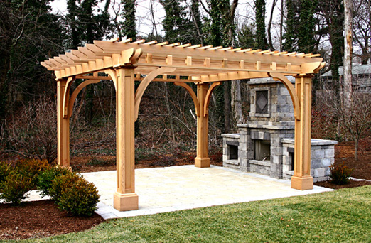 Outdoor Kitchen Pergola No. Kp2 - By Trellis Structures