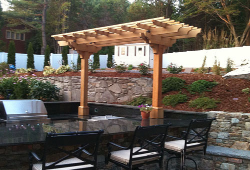 Outdoor Kitchen Pergola No Kp3a