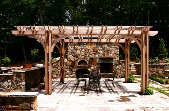 Outdoor Kitchen Pergola No Kp4 By Trellis Structures