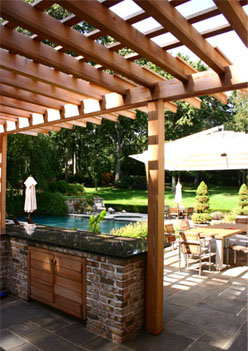 Contemporary Outdoor Kitchen Pergola No Kp5 By Trellis