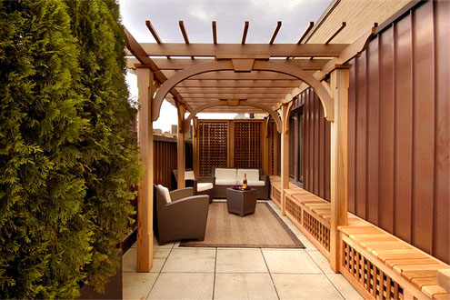 Pergolas for terrace inspirational for Roof terrace definition