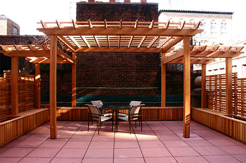 Large Rooftop Pergola And Planters No Rp5 By Trellis