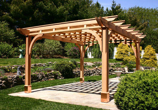 Louvered pergola with shade cloth no sp5 by trellis for Photos pergolas