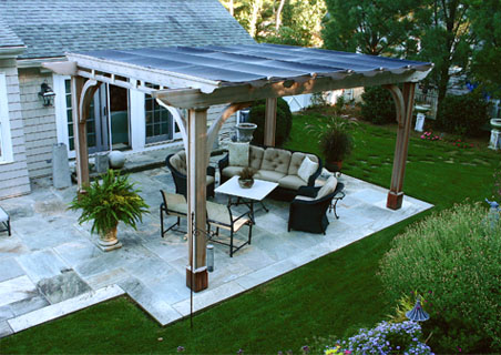 Louvered Pergola With Shade Cloth No Sp5 By Trellis